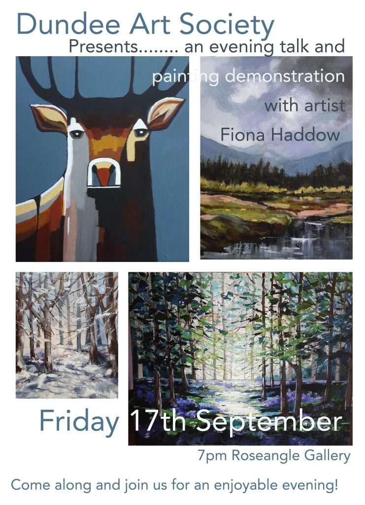 Friday talks - Fiona Haddow @ Roseangle Gallery